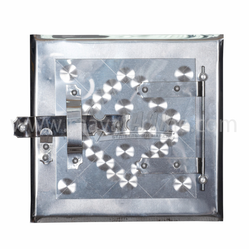 Дверцята прочисні нержавіюча сталь 180×180 мм 0,21 кг