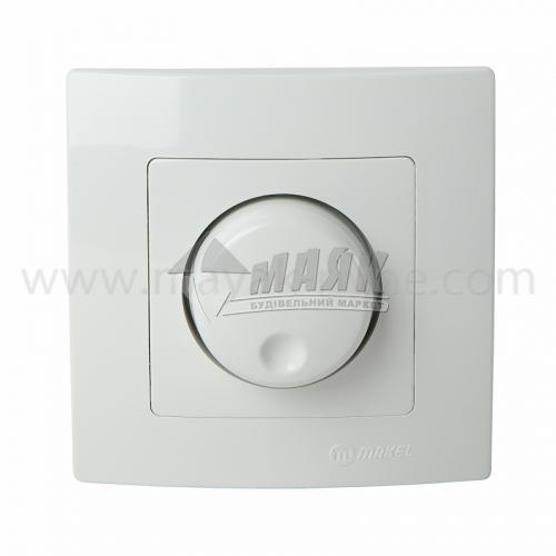 Світлорегулятор поворотний Makel Lilium Nat Kare 600 Вт білий