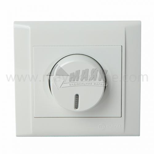 Світлорегулятор поворотний Makel Defne 600 Вт білий