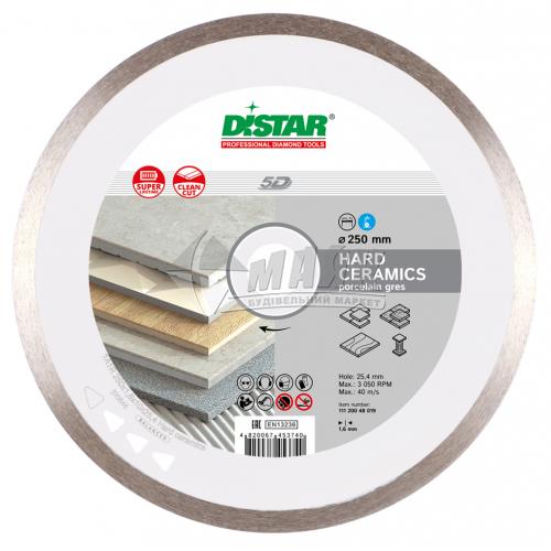 Диск алмазний відрізний DiStar 1A1R Hard Ceramics 250×1,6×10×25,4 мм суцільний