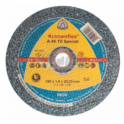 Диск абразивний відрізний по металу Klingspor Kronenflex A 46 TZ Special 180×1,6×22,23 мм