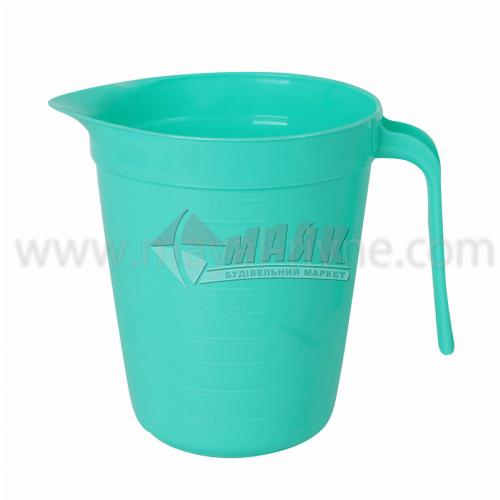 Кухоль мірний пластиковий 1 л в асортименті