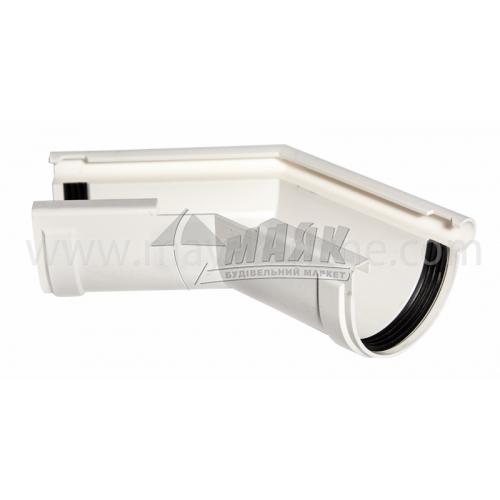 Кут зовнішній пластиковий Z Profil 135° 130/100 білий