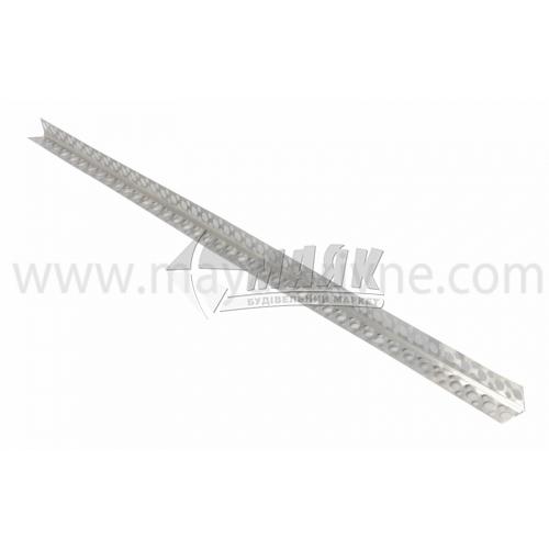 Кутник штукатурний алюмінієвий 0,25×18×18 мм 2,0 м перфорований