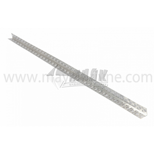Кутник штукатурний алюмінієвий 0,25×18×18 мм 3,0 м перфорований