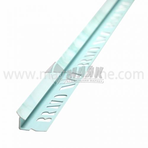 Кутник для облицювальної плитки ПВХ A внутрішній 8 мм 2,5 м 106 мармур блакитний