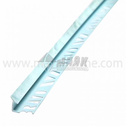 Кутник для облицювальної плитки ПВХ A внутрішній 8 мм 2,5 м 117 мармур лазуровий