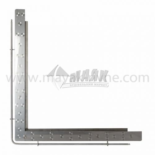 Кутник для плити нержавіюча сталь 750×755 мм 5,1 кг