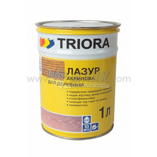 Лазур для деревини TRIORA акрилова декор-захист 0,75 л горіх