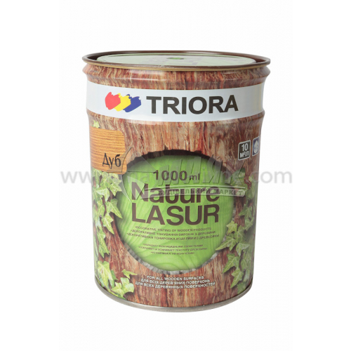 Лазур для деревини TRIORA акрилова декор-захист 0,75 л дуб