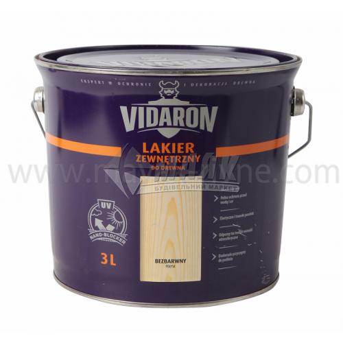 Лак для деревини Vidaron Zewnetrzny для зовнішніх робіт 3 л безбарвний глянцевий