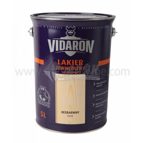 Лак для деревини Vidaron Zewnetrzny для зовнішніх робіт 5 л безбарвний глянцевий