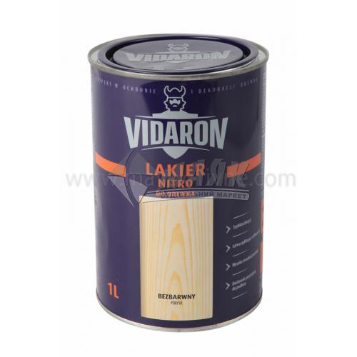Лак для деревини Vidaron Nitro для внутрішніх робіт 1 л безбарвний глянцевий