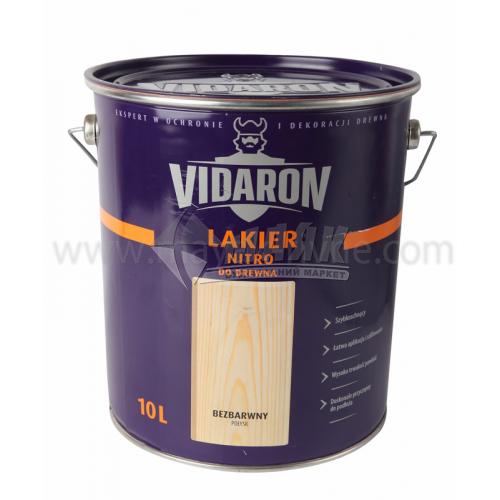 Лак для деревини Vidaron Nitro для внутрішніх робіт 10 л безбарвний глянцевий