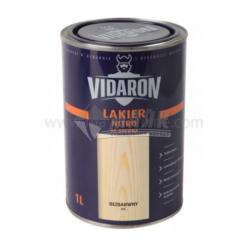 Лак для деревини Vidaron Nitro для внутрішніх робіт 1 л безбарвний матовий