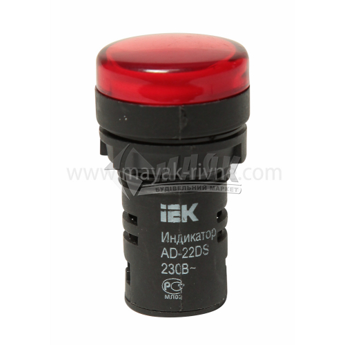 Лампа LED IEK АD22DS 22 мм 230В червона матриця