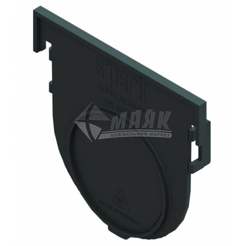Заглушка торцева пластикова до лотка водовідвідного Spark 6822-М UA ЗЛВ-07.09.09-ПП