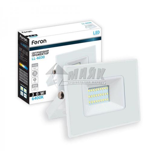Прожектор світлодіодний Feron LL-6030 30Вт 6400°К білий