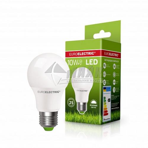 Лампа світлодіодна класична (груша) EUROELECTRIC 10Вт Е27 А60 4000°К (LED-А60-10274(ЕЕ))