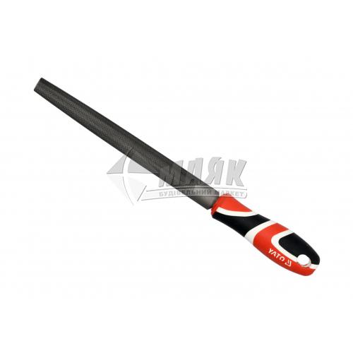 Напилок напівкруглий YATO 200 мм №1 з ручкою