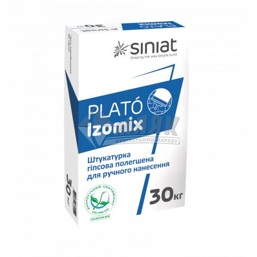 Штукатурка гіпсова Siniat Plato Izomix інтер'єрна ручне нанесення 30 кг