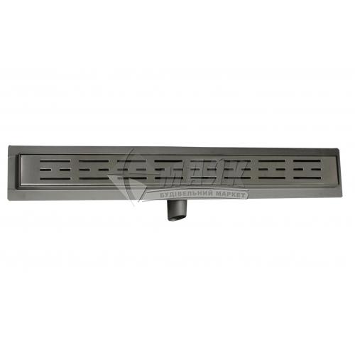 Трап для душу Valtemo Aqualine VLD-600330 40×800 мм боковий вивід 50 мм нержавіюча сталь