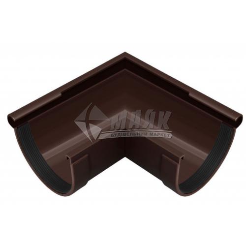 Кут ринви пластиковий зовнішній NewWay 90° 120 мм коричневий