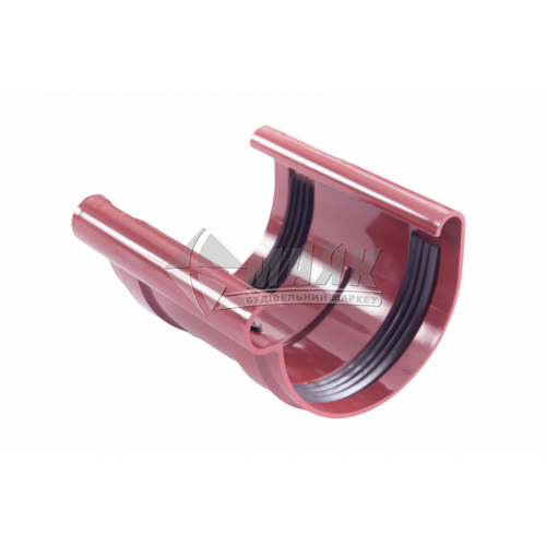 Муфта (з'єднувач) ринви з прокладкою пластикова Profil 90 мм 90/75 червона