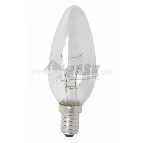 Лампа розжарювання свічка Іскра 40Вт Е14 B35 230В прозора (уп. коробка)