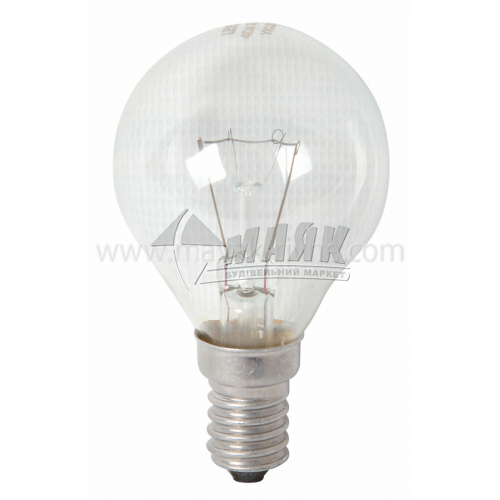Лампа розжарювання куля Іскра 40Вт Е14 PS45 230В прозора (уп. коробка)