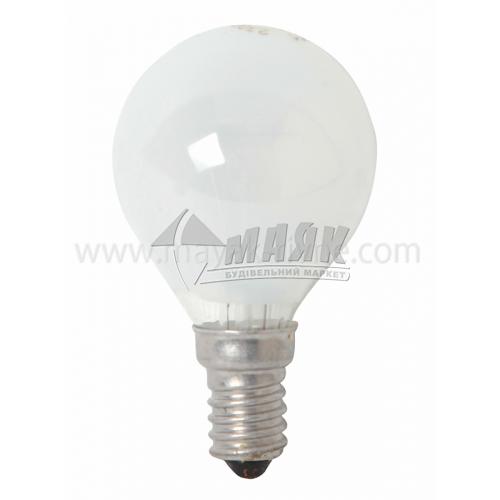 Лампа розжарювання куля Іскра 40Вт Е14 PS45 230В матова (уп. коробка)