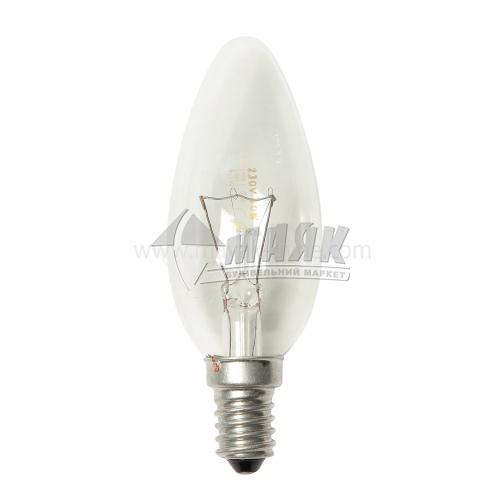 Лампа розжарювання свічка Іскра 60Вт Е14 B35 230В прозора (уп. коробка)