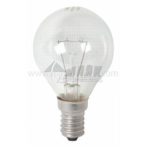 Лампа розжарювання куля Іскра 60Вт Е14 PS45 230В прозора (уп. коробка)
