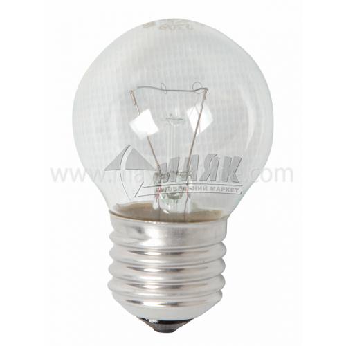Лампа розжарювання куля Іскра 60Вт Е27 PS45 230В прозора (уп. коробка)