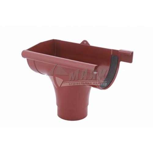 Лійка (воронка) пластикова ліва L Profil 130/100 цегляна
