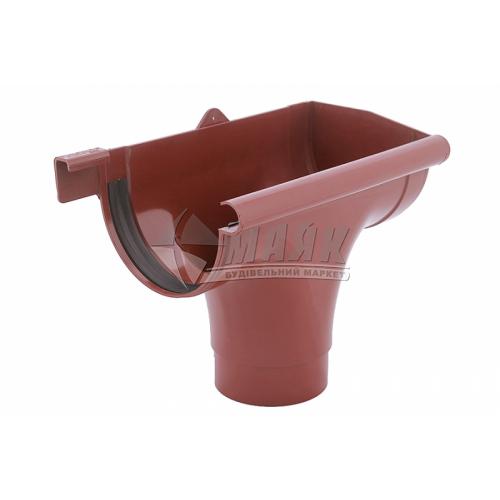 Лійка (воронка) пластикова права P Profil 130/100 цегляна