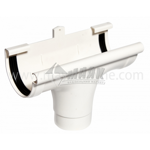 Лійка (воронка) пластикова прохідна Profil 90/75 біла
