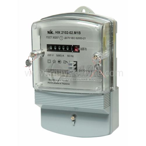 Лічильник електроенергії однофазний НІК 2102 М1 5/60А