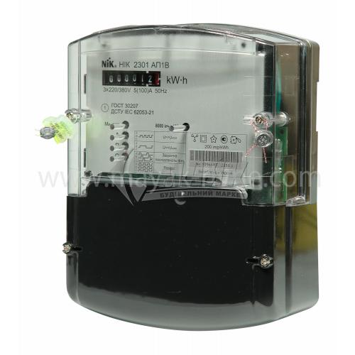 Лічильник електроенергії трифазний НІК 2301 АП1 5/100А