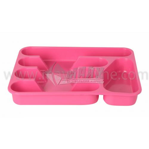 Лоток пластиковий для столових приборів в асортименті