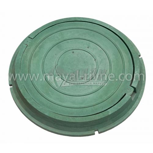 Люк каналізаційний полімерпіщаний садовий А15 тип ПЛ зелений