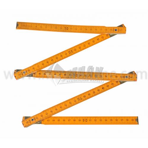 Метр дерев'яний складний 1 м