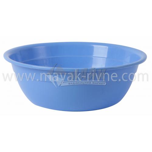 Миска пластикова господарська кругла 2 л в асортименті