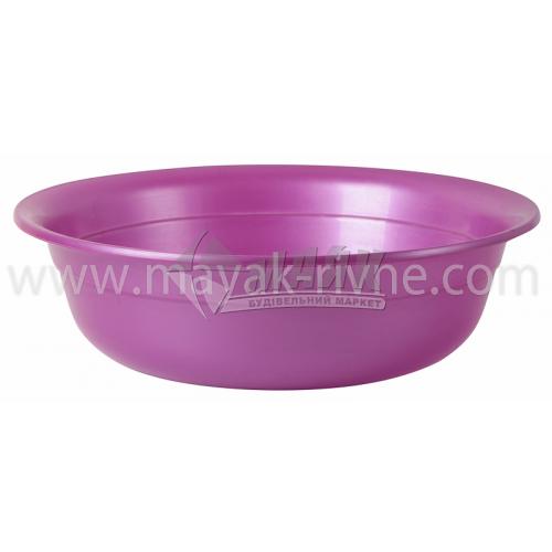 Миска пластикова господарська кругла 2,5 л в асортименті