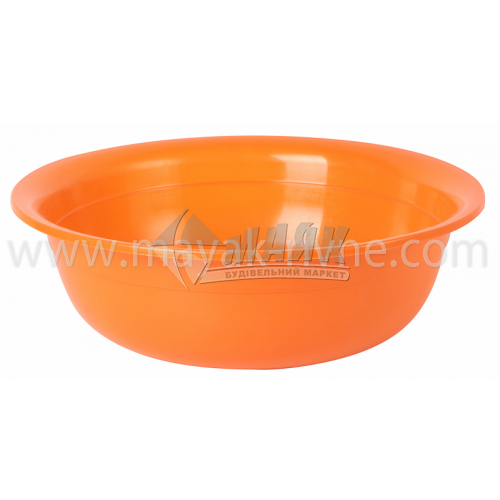 Миска пластикова господарська кругла 6 л в асортименті