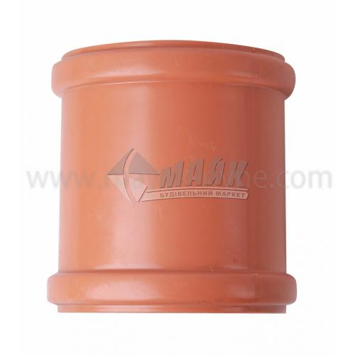 Муфта ПВХ зовнішня каналізація Інсталпласт 110 мм