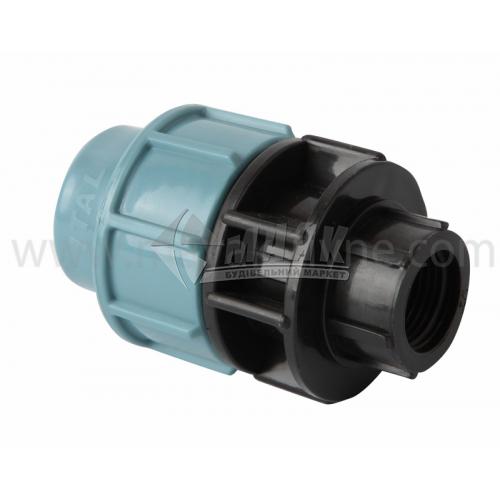 """Муфта для водопровідної труби VS Plast 25 мм 1/2"""" внутрішня різьба"""