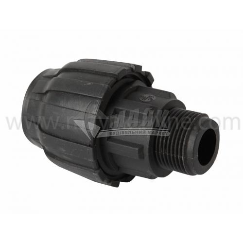 """Муфта для водопровідної труби VS Plast 25 мм 3/4"""" зовнішня різьба"""