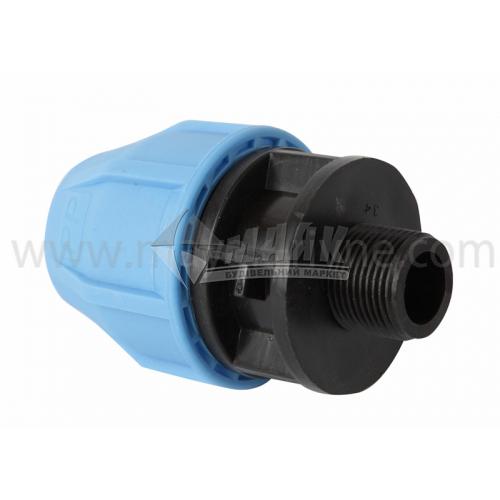 """Муфта для водопровідної труби VS Plast 32 мм 3/4"""" зовнішня різьба"""