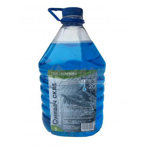 Омивач скла зимовий Білевів Морозна Свіжість -20°С 4,8 л синій